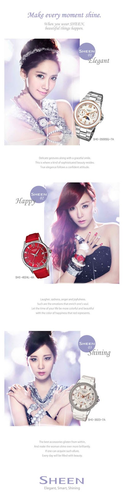 snsd casio sheen