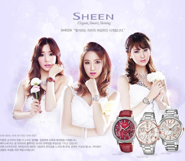 tiffany-yoona-seohyun-casio-sheen
